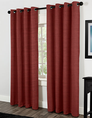 Home Studio Raw Silk 84in Thermal Grommet Panel-CHILI-84 inches