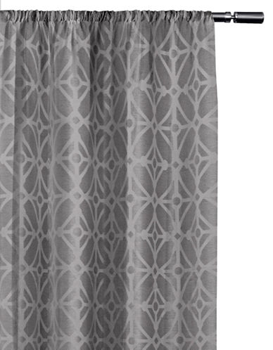 Home Studio Cressy Geo Blackout Drape-ASH GREY-84 inches