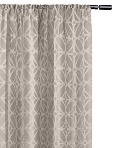 Home Studio Cressy Geo Blackout Drape-DOVE GREY-63 inches