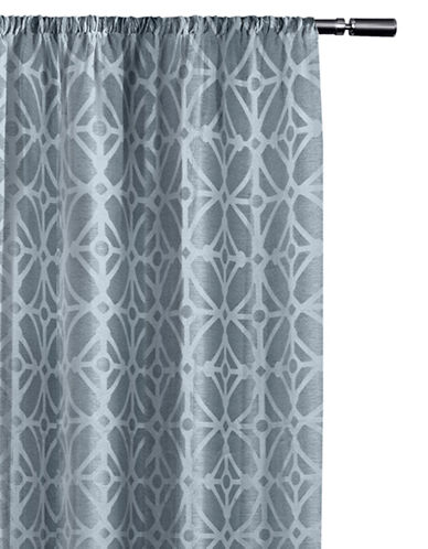Home Studio Cressy Geo Blackout Drape-STEEL BLUE-63 inches
