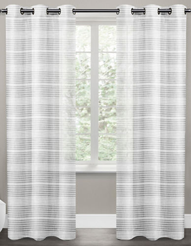 Distinctly Home Lana Sheer 96-Inch Grommet Drape-WHITE-96 inches