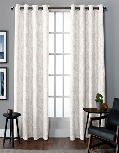 Home Outfitters Twig Thermal Grommet Top Window Panel-WHITE-84 inches