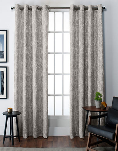 Home Outfitters Twig Thermal Grommet Top Window Panel-GREY-84 inches
