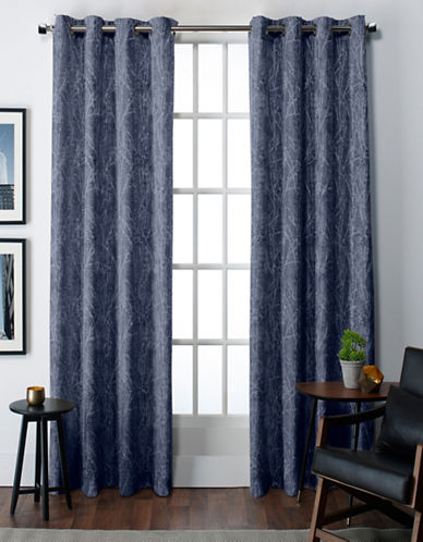 Home Outfitters Twig Thermal Grommet Top Window Panel-BLUE-84 inches