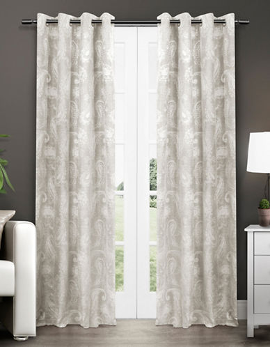 Home Outfitters Bangalore Thermal Grommet Top Window Panel-GREY-84 inches