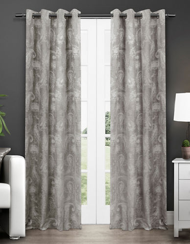 Home Outfitters Bangalore Thermal Grommet Top Window Panel-ASH GREY-84 inches