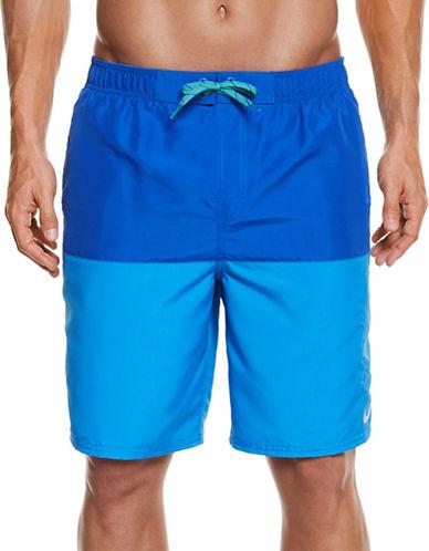 Nike Colourblock Swim Trunks-BLUE-Large