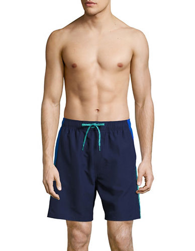Nike Clash Printed Side Volley Shorts-BLUE-Medium