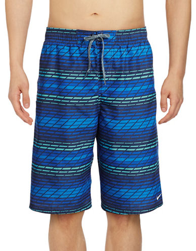 Nike Printed Volley Swim Shorts-BLUE-Large 88851420_BLUE_Large