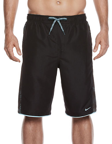 Nike Fuse Mesh Panel Shorts-BLACK-XX-Large