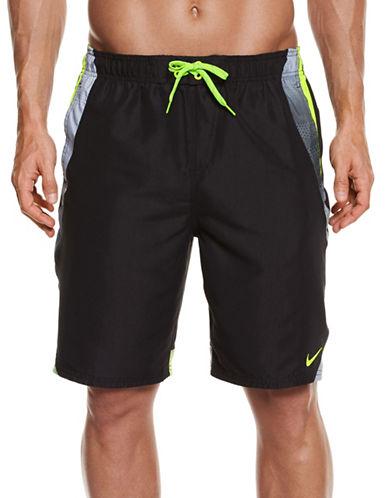 Nike Colourblock Drawstring Swim Trunks-BLACK-XXXX-Large