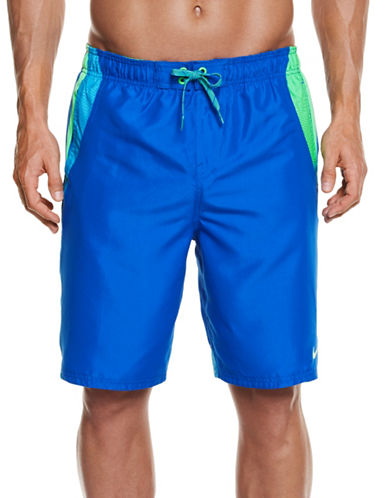 Nike Colourblock Drawstring Swim Trunks-BLUE-XX-Large