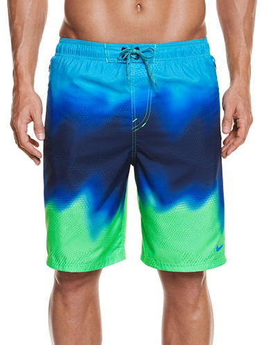 Nike Liquid Haze Splice Volley Swim Shorts-GREEN-XXX-Large