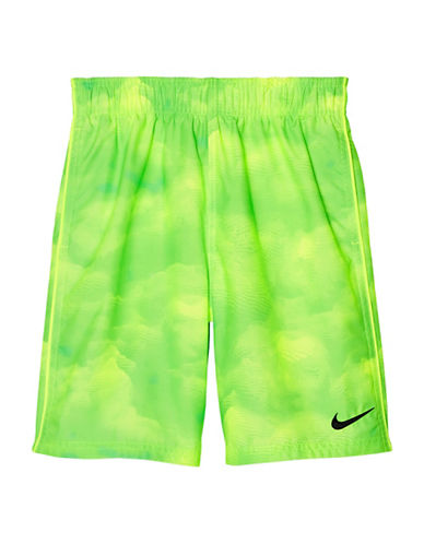 Nike Cumulous 7in Volley Shorts-GREEN-Medium