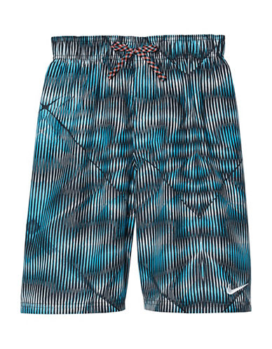 Nike Techno Tear 9in Volley Shorts-BLUE-X-Large