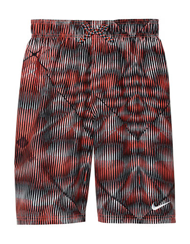 Nike Techno Tear 9in Volley Shorts-RED-Large