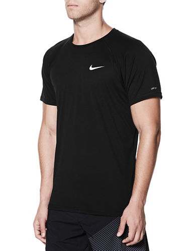 Nike Short Sleeve Hydroguard Top-BLACK-Large 89773210_BLACK_Large
