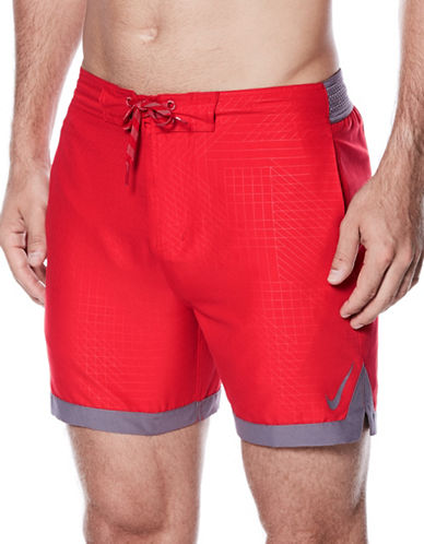 Nike Swim Horizon E-Board Shorts-RED-X-Large