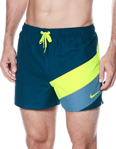 Nike Tri-Toned Logo Volley Shorts-BLUE-Medium