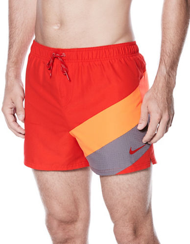 Nike Tri-Toned Logo Volley Shorts-RED-Large