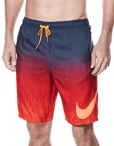Nike Ombre Logo Volley Shorts-RED-Large