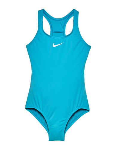 Nike One-Piece Racerback Sport Swimsuit-BLUE-14