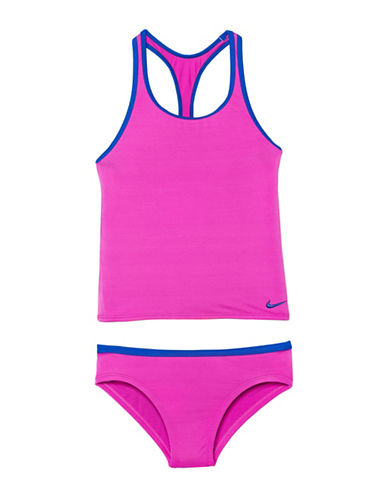 Nike Racerback Sport Tankini Top and Swim Brief Set-PURPLE-16