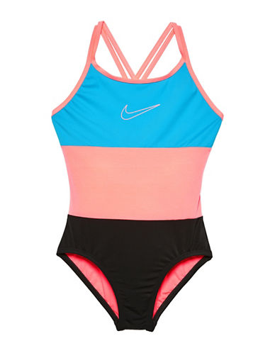 Nike One-Piece Surge Spider Back Swimsuit-BLUE-8