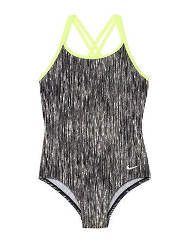 Nike Heathered Spiderback One-Piece Swimsuit-BLACK-7 89866352_BLACK_7