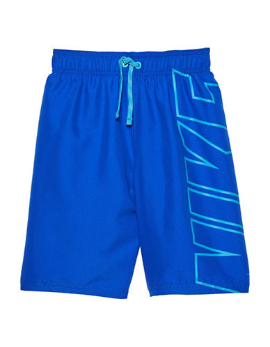 Nike Signature Swim Shorts-BLUE-Medium