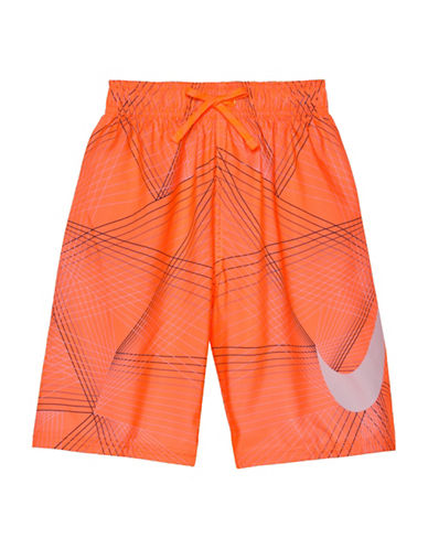 Nike Flywire Line Swim Shorts-RED-X-Large