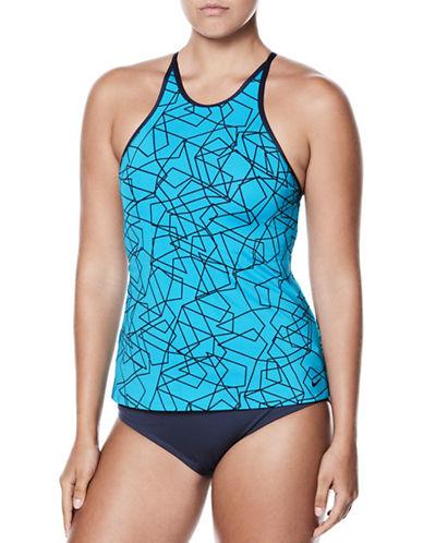 Nike Swim Printed Tankini Top-LIGHT BLUE-Medium