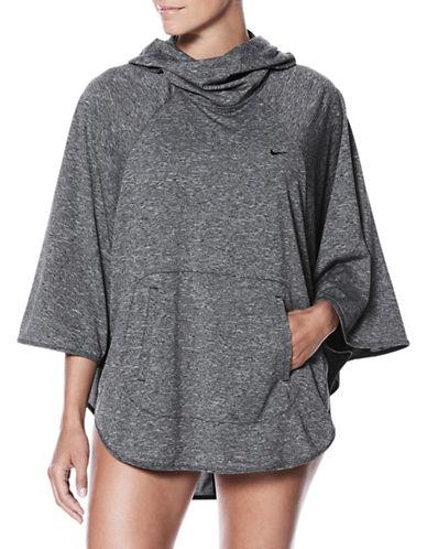 Nike Swim Raglan Sleeve Poncho-GREY-Large