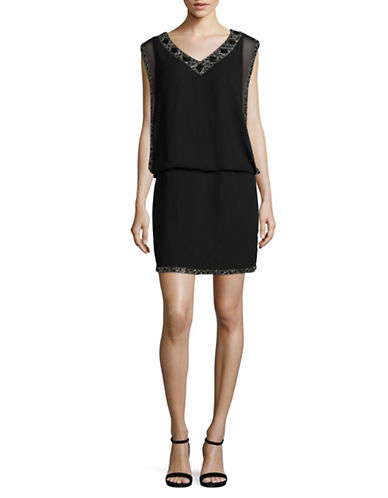 J Kara Beaded Blouson Dress-BLACK-10