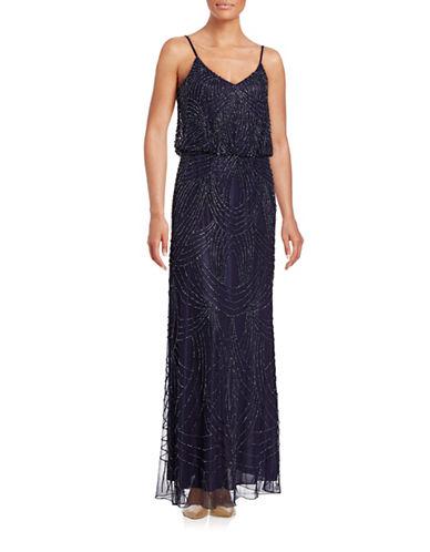J Kara Beaded Blouson Gown-BLUE-10