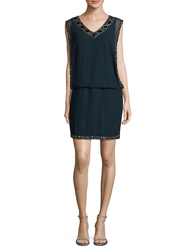 J Kara Beaded Blouson Dress-NAVY-12
