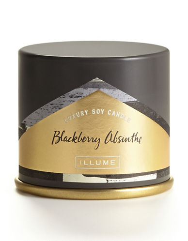 Illume Blackberry Absinthe Demi Vanity Tin Candle-DARK GREY-One Size