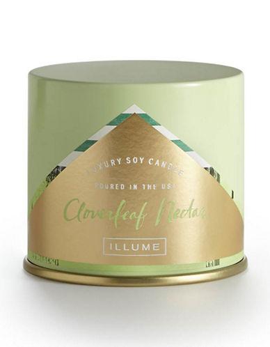 Illume 11.8 oz Cloverleaf Nectar Vanity Tin Candle-GREEN-One Size