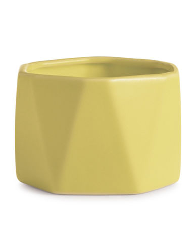 Illume Pineapple Cilantro Dylan Ceramic Candle-YELLOW-One Size