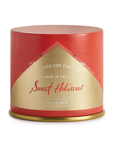 Illume Sweet Hibiscus Large Vanity Tin Candle-RED-One Size