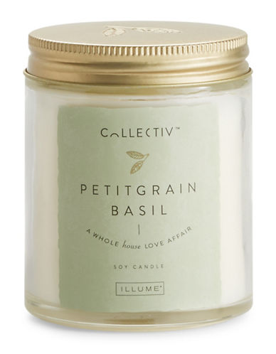 Illume Pettigrain Basil Julia Jar Candle-NATURAL-One Size
