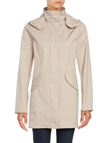 Weatherproof Hooded Zip-Front Slicker Anorak-BLUSH-Small