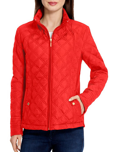 Weatherproof Quilted Jacket-RED-Medium