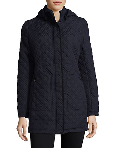 Weatherproof Quilted Hooded Walker Jacket-DARK SEA-Large