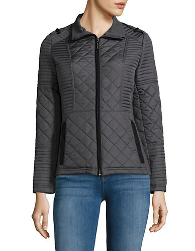 Weatherproof Quilted Puffer Jacket-SMOKE GREY-2X