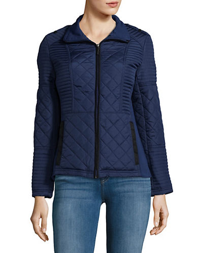 Weatherproof Quilted Puffer Jacket-BLUE-2X