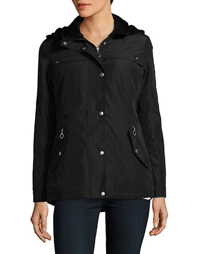Weatherproof Hooded Anorak-BLACK-X-Large