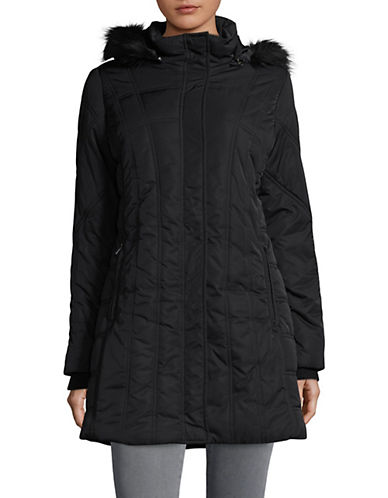 Weatherproof Hooded Polyfilled Walker Jacket-BLACK-Medium