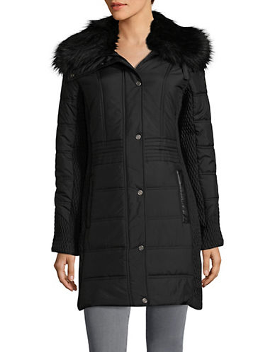 Weatherproof Fashion Puffer Jacket-BLACK-Large