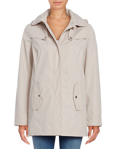 Weatherproof Hooded A-Line Jacket-TAUPE-3X